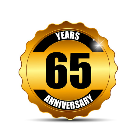 gild: Anniversary Gild Label Sign Template Vector Illustration EPS10