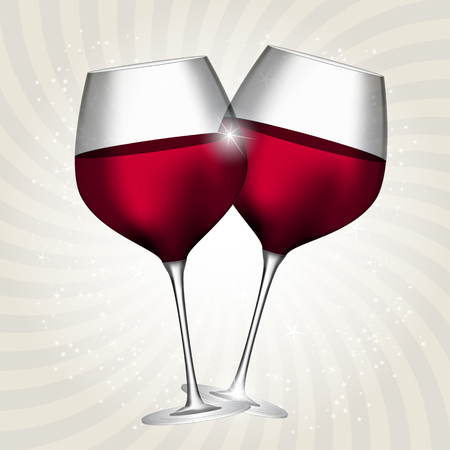 wine background: Full Glass of Red Wine on Swirl Background Vector Illustration EPS10 Illustration