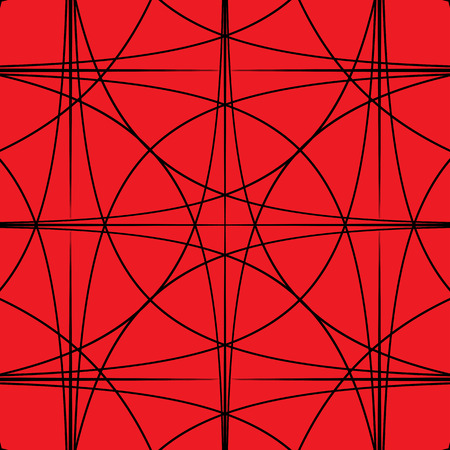 hypnotic: Black and Red hypnotic background. Vector Illustration.