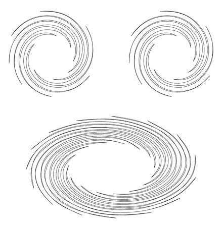 hypnotic: Black and white hypnotic background. Vector Illustration. Illustration