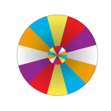 vector wheel: Happy colorful wheel of fortune. vector Illustration. Illustration