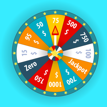 spin: Happy colorful wheel of fortune. vector Illustration. Illustration