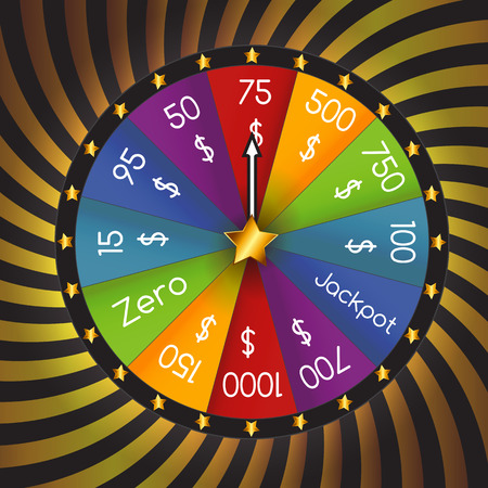 vector wheel: Wheel of Fortune, Lucky. Vector Illustration