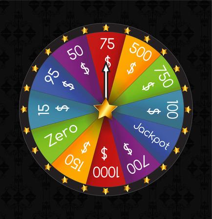 rueda de la fortuna: Rueda de la Fortuna, Lucky. Ilustraci�n del vector