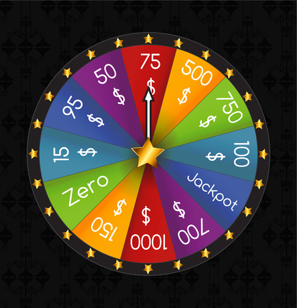 wheel of fortune: Wheel of Fortune, Lucky. Vector Illustration