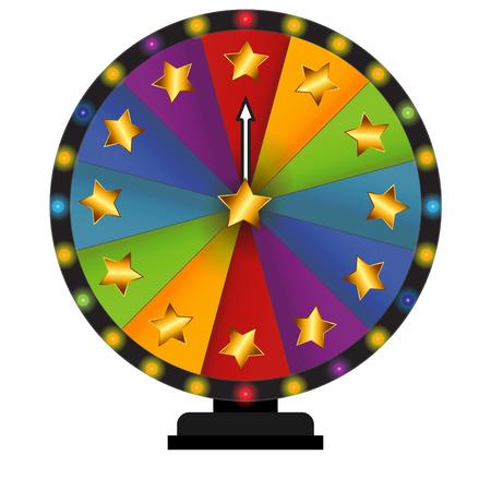 rueda de la fortuna: Rueda de la Fortuna, Lucky. Ilustración del vector