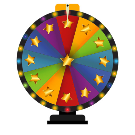 fortune: Wheel of Fortune, Lucky. Vector Illustration