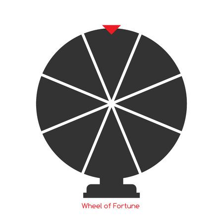 rueda de la fortuna: Rueda de la Fortuna, Lucky Icono. Ilustraci�n del vector