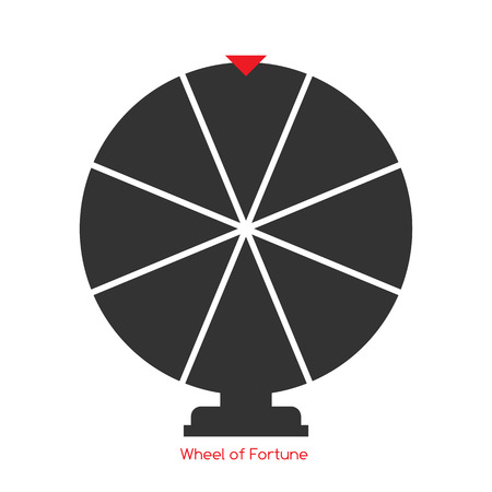 luck wheel: Wheel of Fortune, Lucky Icon. Vector Illustration Illustration