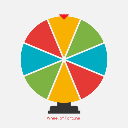 Wheel of Fortune, Lucky Icon. Vector Illustration Illustration