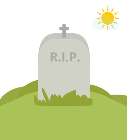 rip: RIP. Tomb in nature. Vector Illustration