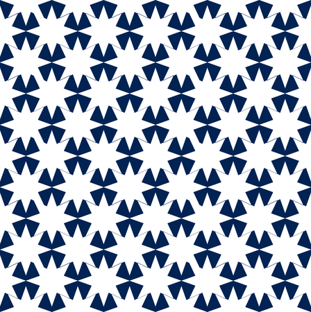 hypnotic: Blue and White Hypnotic Background Seamless Pattern.