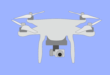 unmanned: Quadrocopters. unmanned aerial vehicle with 4 propellers.