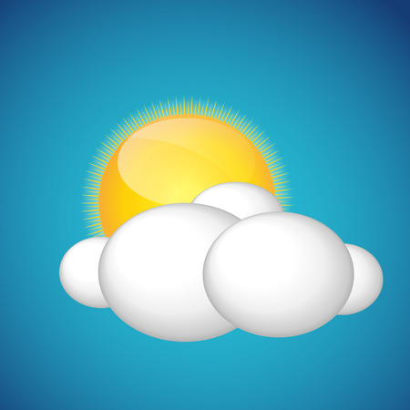 Weather Icons with Sun and Cloud EPS10