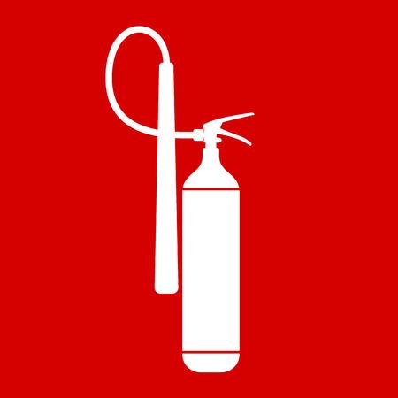 Wohnung Feuerlöscher-Symbol mit Platz für Beschriftung. Vektor-Illustration. EPS10