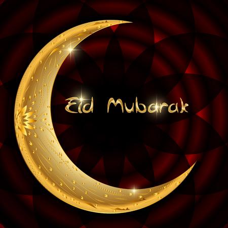 Vector Illustration of Beautiful Greeting Card Design  Eid Mubarak for Muslim festival. EPS10