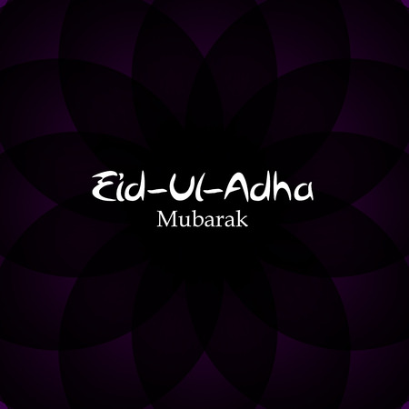 sacrificio: Vector Illustration of Beautiful Greeting Card Design  Eid Adha (Festival of Sacrifice) EPS10