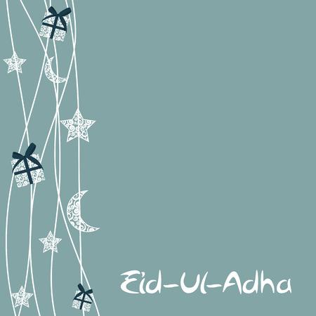 """sacrifice: Ilustración del vector de la tarjeta de felicitación Diseño hermoso 'Eid Adha """"(Fiesta del Sacrificio) EPS10"""