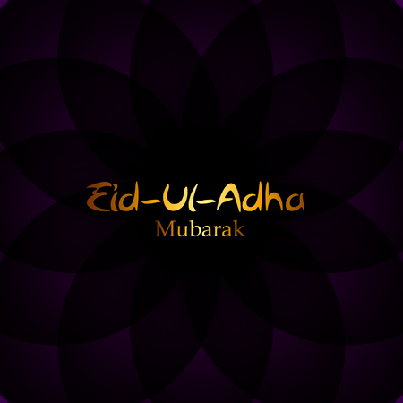 adha: Vector Illustration of Beautiful Greeting Card Design  Eid Adha (Festival of Sacrifice) EPS10
