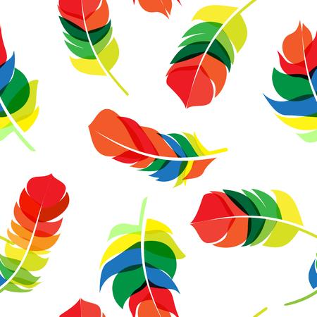 Bird Veer Hand Getrokken naadloze patroon achtergrond Vector Illustratie