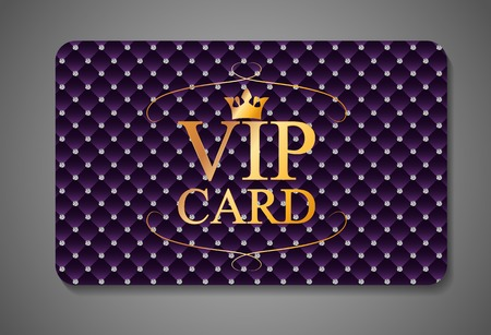 Elegant Dark VIP Card Vector Illustration EPS10