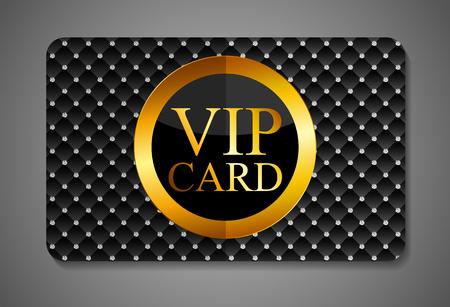 private party: Elegant Dark VIP Card Vector Illustration EPS10