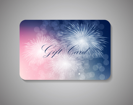 Beautiful Gift Card On Gray Background. Vector Illustration EPS10. Illustration