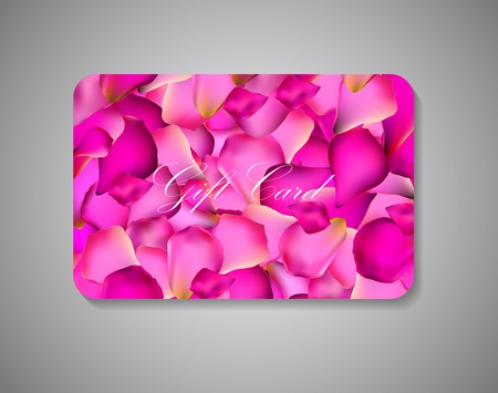 Beautiful Gift Card On Gray Background. Vector Illustration EPS10. Illustration