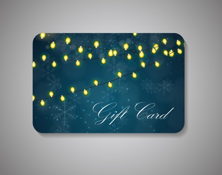 annotation: Beautiful Gift Card On Gray Background. Vector Illustration EPS10. Illustration