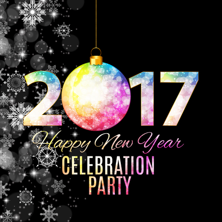 new year celebration: Abstract Beauty 2017 New Year Celebration Poster Background. Vector Illustration EPS10 Illustration