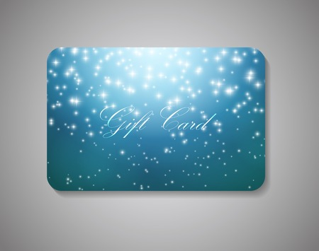 Beautiful Gift Card On Gray Background. Vector Illustration EPS10. Фото со стока - 61824319