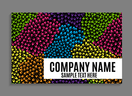 notepaper: Beautiful Company Business Card Template. Vector Illustration EPS10 Illustration