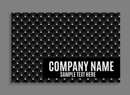 Beautiful Company Business Card Template. Vector Illustration EPS10 Фото со стока - 61824538