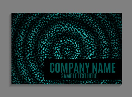 annotation: Beautiful Company Business Card Template. Vector Illustration EPS10 Stock Photo