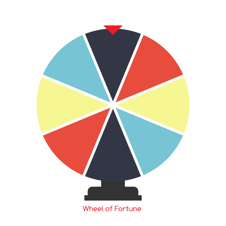 wheel of fortune: Wheel of Fortune, Lucky Icon. Vector Illustration EPS10