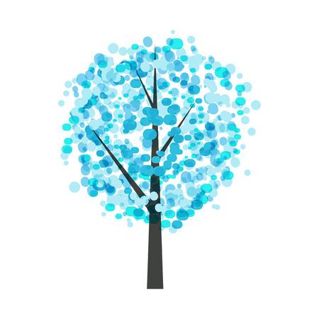 winter tree: Abstract Beautiful Winter Tree Background Vector Illustration EPS10