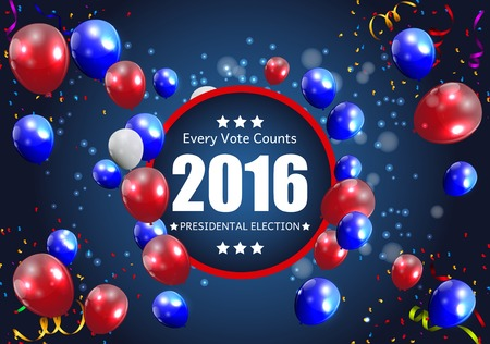 presidential: Presidential Election 2016 in USA Background. Can Be Used as Banner or Poster. Vector Illustration EPS10