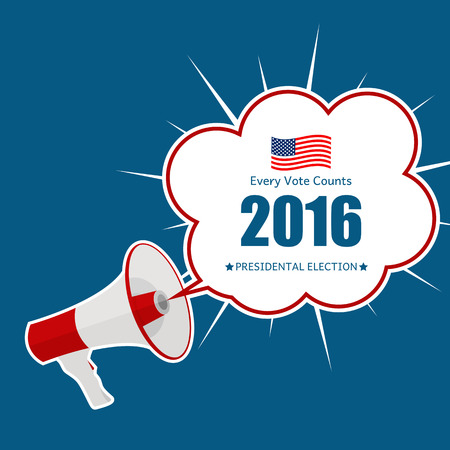 Presidential Election 2016 in USA Background. Can Be Used as Banner or Poster. Vector Illustration EPS10