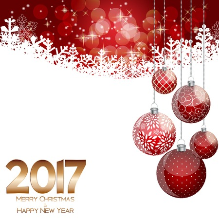 Abstract Beauty Christmas and 2017 New Year Background.