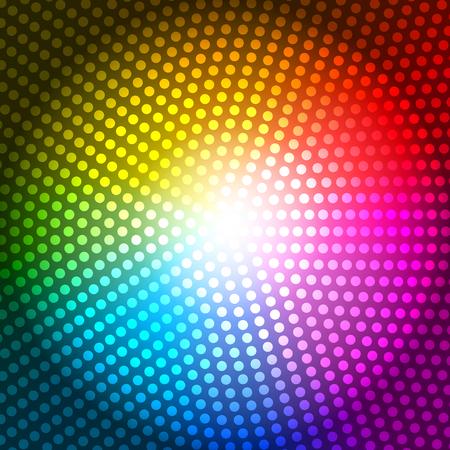 radius: Circle Radius Abstract Rainbow Background