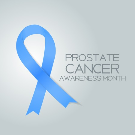 Blue Ribbon Symbol Of World Prostate Cancer Awareness Day Concept