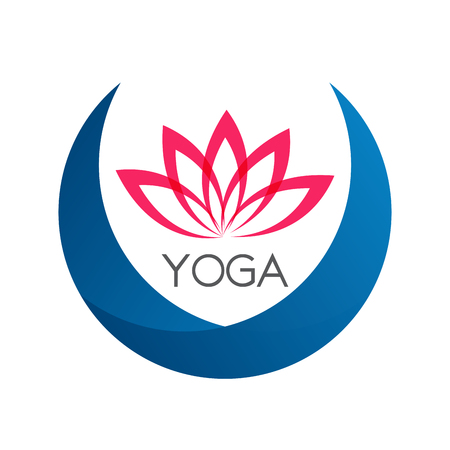Lotus Flower Sign for Wellness, Spa and Yoga. Illustration