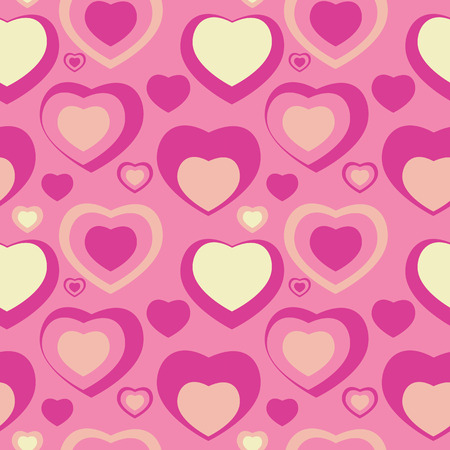 Heart Love Seamless Pattern Background