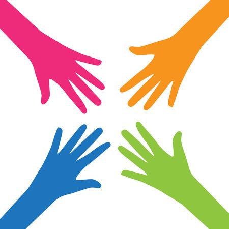 Teamwork, Community, Social Design Flat Concept.