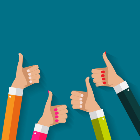 Flat Design Thumbs Up Background