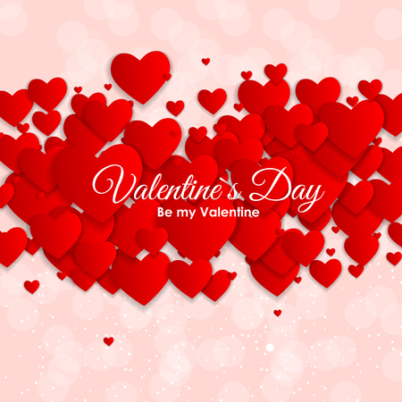 Valentines Day Heart Symbol. Love and Feelings Background Design. Illustration