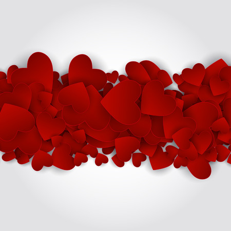 romantic couple: Valentine s Day Heart Symbol. Love and Feelings Background Design. Illustration