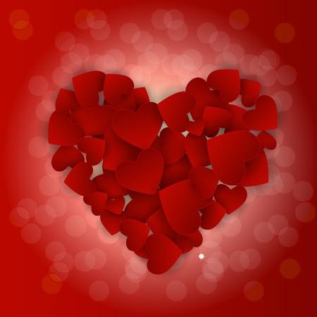 Valentine s Day Heart Symbol. Love and Feelings Background Design. Illustration