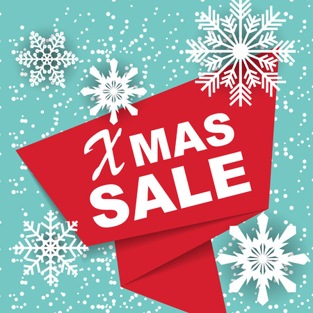 Christmas and New Year Sale Background, Discount Coupon Template. Illustration