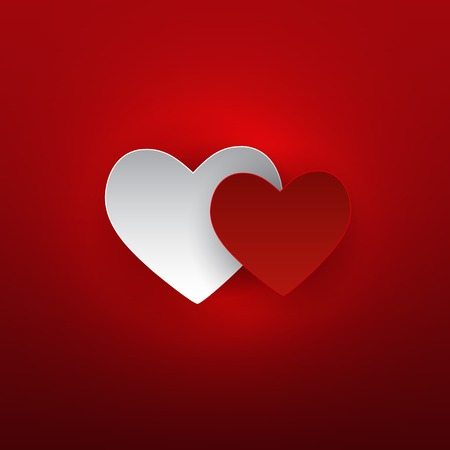 Valentine s Day Heart Symbol. Love and Feelings Background Desig
